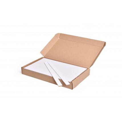 Barevná špachtle na tvoření, bílá, 25 cm, 100 ks