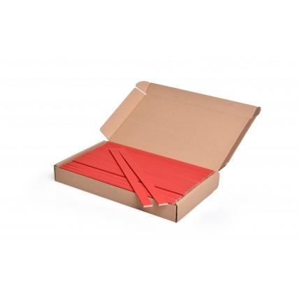 Barevná špachtle na tvoření červená, 25 cm, 100 ks