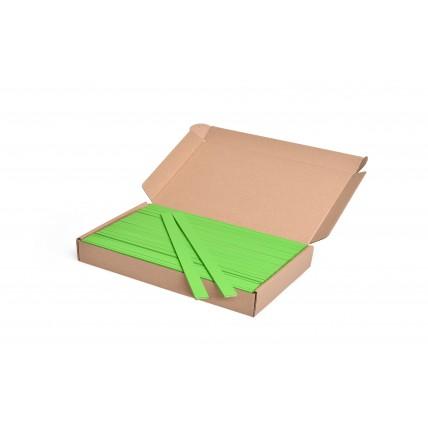 Barevná špachtle na tvoření zelená, 25 cm, 100 ks